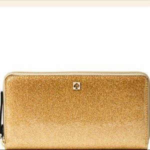 Kate Spade Gold Mavis Street Neda Zip Wallet